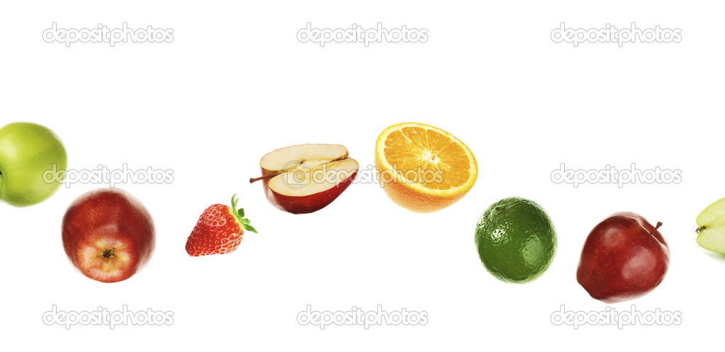 Different fruits on white background — Stock Photo #1776512