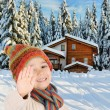 Winter happiness - Stock Photo