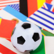 Football flags — Stock Photo