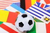 Football flags — Stock Photo