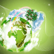 Royalty-Free Stock Photo: Green planet
