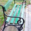 Green chair in park — Foto Stock