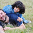 Young father and little cute girl, happi — Stock Photo #1833312