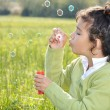 Happy childhood on green beautiful meado — Stock Photo #1833528
