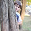 Happy cute child in the park — Stock Photo