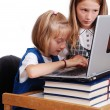 Children activities on laptop put on des — Stock Photo #1833729