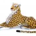 Big wild animal but toy on isolated — Stock Photo