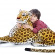 Big wild animal but toy on isolated — Stock Photo