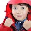 Стоковое фото: Very cute child in autumn winter fashion clothes