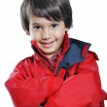 Very cute child in autumn winter fashion — Stock Photo