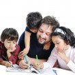 Happy family with several members in education p — Stock Photo