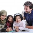 Happy family with several members — Stock Photo