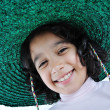 A little cute girl with hat on head — Stock Photo #1834207