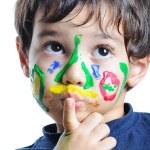 un niño lindo con varios colores — Foto de Stock   #1834232