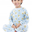 A little beautirul kid in pajamas — Stock Photo #1834270