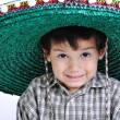 Cute kid with mexichat on head — Foto de stock #1834436