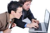 Negocios en oficina en computadora — Foto de Stock
