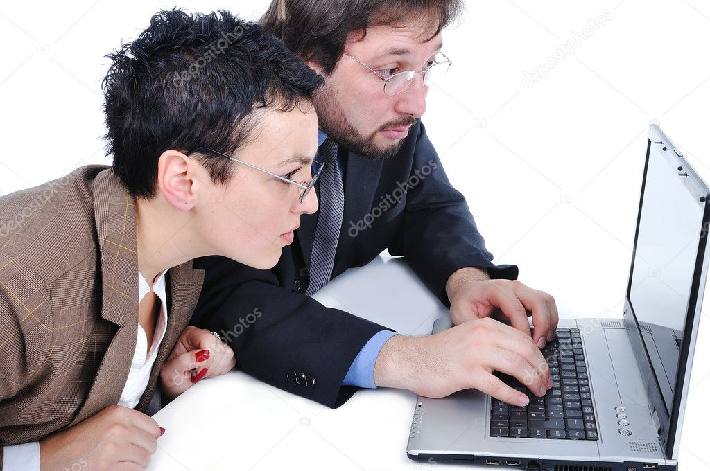 Business in office on computer  Stock Photo #1833184