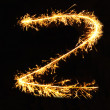 Letter Z made of sparklers isolated — Stock Photo