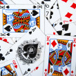 Stock Photo: Playing cards texture