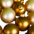 Christmas balls isolated on white — Stok fotoğraf