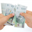 Hands counting money — Stock Photo #1630356