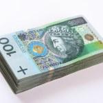 Stack of polish Zloty banknotes — Stock Photo