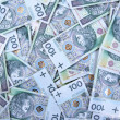 Background made of 100 PLN banknotes — Stock Photo