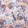Stock Photo: Background made of polish banknotes
