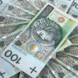 Background made of polish banknotes — Stock Photo