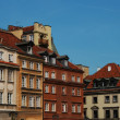 Houses in the Old Town, Warsaw - Stock Photo
