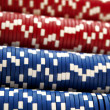 A close up on poker chips — 图库照片