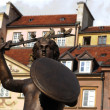 Stock Photo: Siren in Old City Square in Warsaw