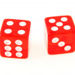 2 Dice close up - showing 4 and 5 — Stock Photo