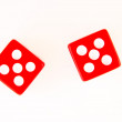 2 Dice close up - showing 5 and 5 — 图库照片 #1632469