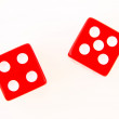 2 Dice close up - showing 4 and 5 — Stock Photo #1632478