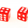 2 Dice close up - showing 4 and 6 — Stock Photo