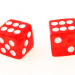 Royalty-Free Stock Photo: 2 Dice close up - showing 6 and 6