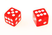 2 Dice close up - showing 5 and 6 — Stock Photo