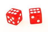 2 Dice close up - showing 6 and 6 — Stock Photo