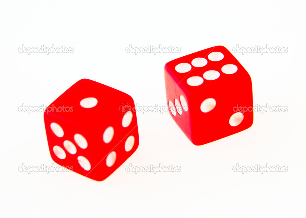 2 Dice close up - showing lucky seven — Stock Photo #1632970