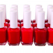 Royalty-Free Stock Photo: Red  nailpolish set isolated