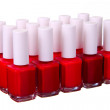 Red  nailpolish set isolated - Stock Photo