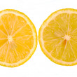 Halves of lemon isolated — Stock Photo