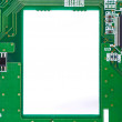 Frame made of electronic circuit board — Stock Photo