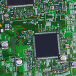 Closeup of electronic circuit board — Stock Photo