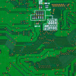Stock Photo: Closeup of electronic circuit board