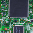 Closeup of electronic circuit board — Foto de Stock