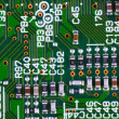 closeup of electronic circuit board — Stock Photo #2078875