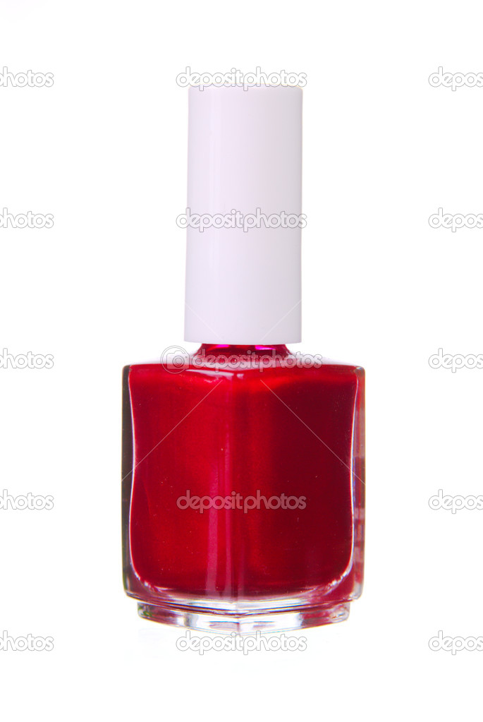 Red nailpolish isolated — Stock Photo #2074204